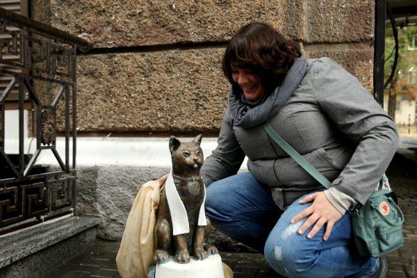 Бронзовый кот в Одессе